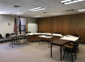 White Township board meeting room